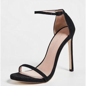 Stuart Weitzman black Nudist sandal